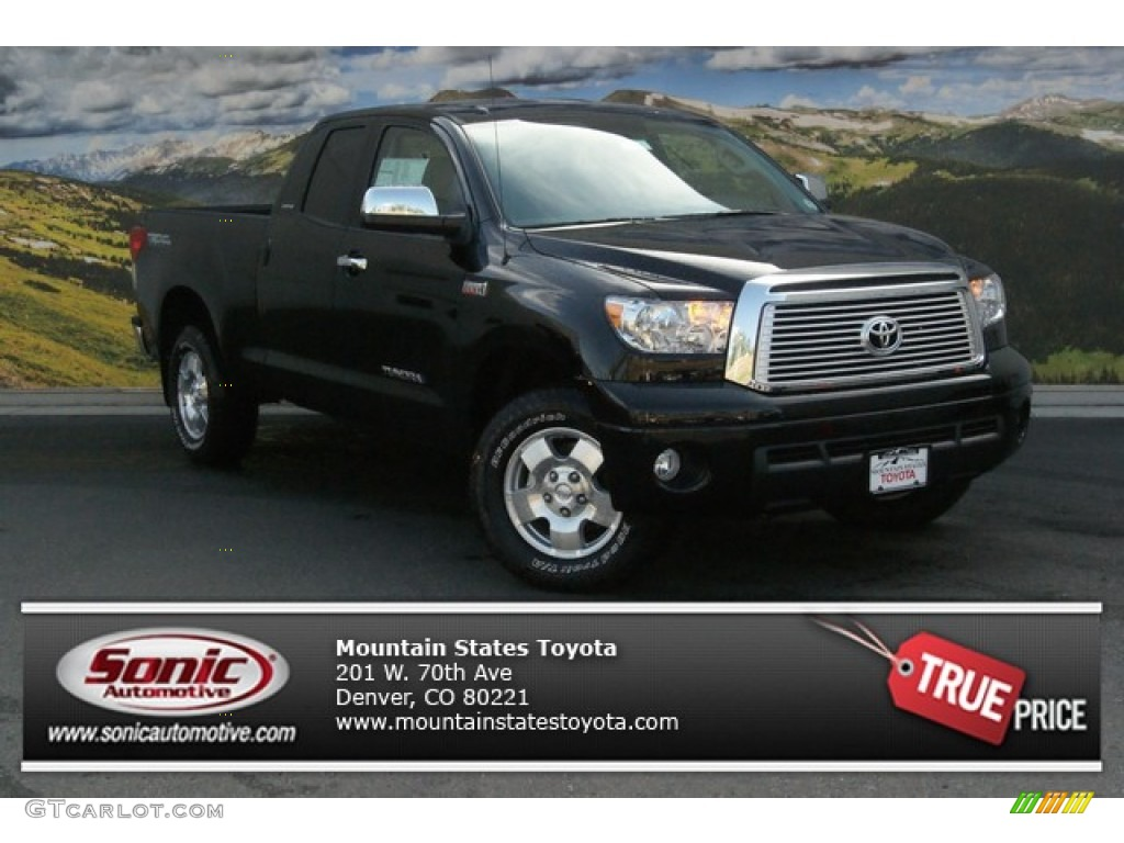 2013 Tundra Limited Double Cab 4x4 - Black / Graphite photo #1