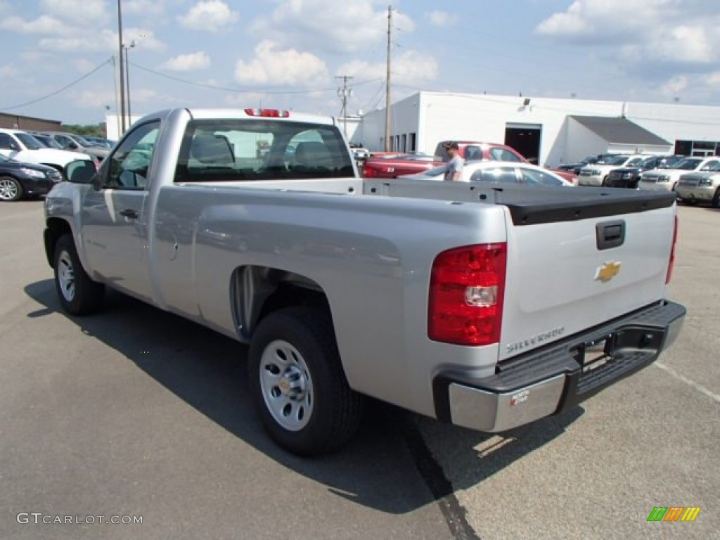 2013 Silverado 1500 Work Truck Regular Cab - Silver Ice Metallic / Dark Titanium photo #6