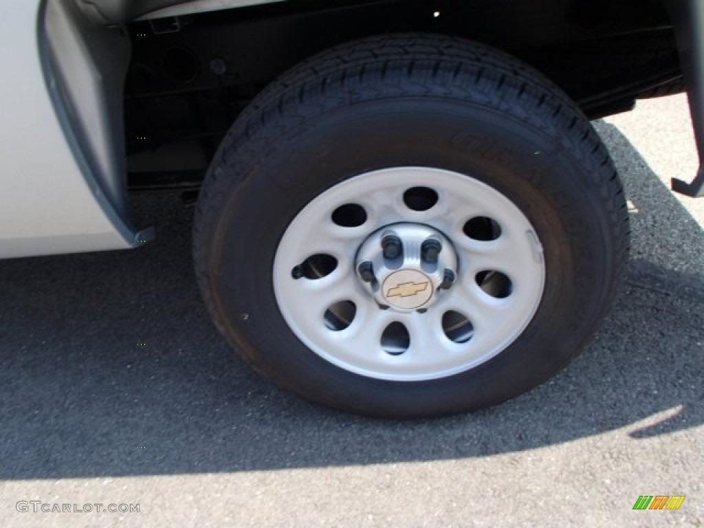 2013 Silverado 1500 Work Truck Regular Cab - Silver Ice Metallic / Dark Titanium photo #9