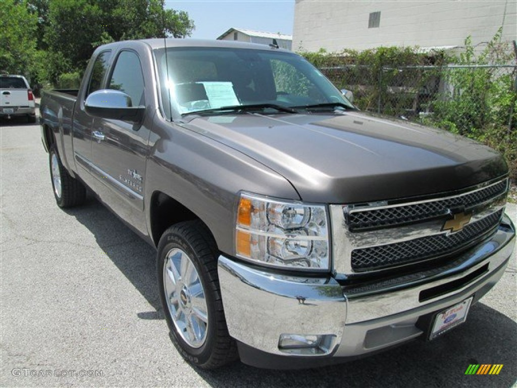 2012 Silverado 1500 LT Extended Cab - Mocha Steel Metallic / Ebony photo #1