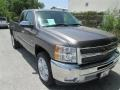 2012 Mocha Steel Metallic Chevrolet Silverado 1500 LT Extended Cab  photo #1