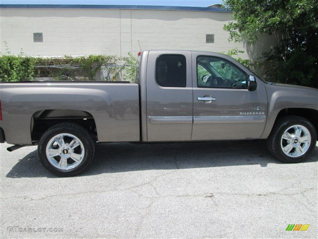 2012 Silverado 1500 LT Extended Cab - Mocha Steel Metallic / Ebony photo #3