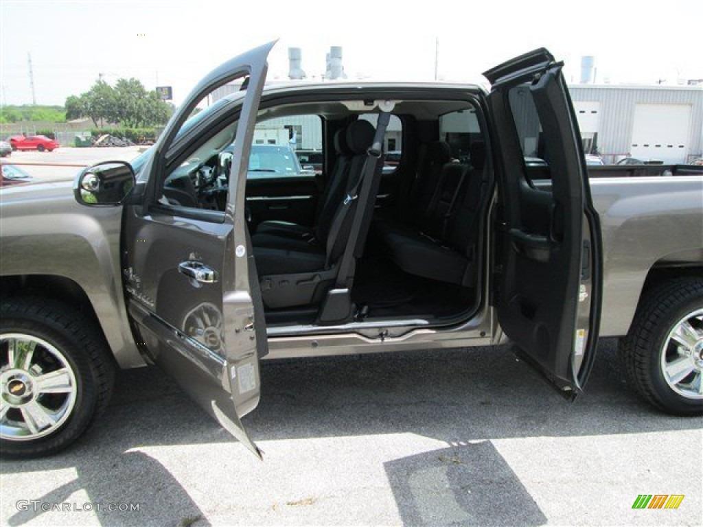 2012 Silverado 1500 LT Extended Cab - Mocha Steel Metallic / Ebony photo #11