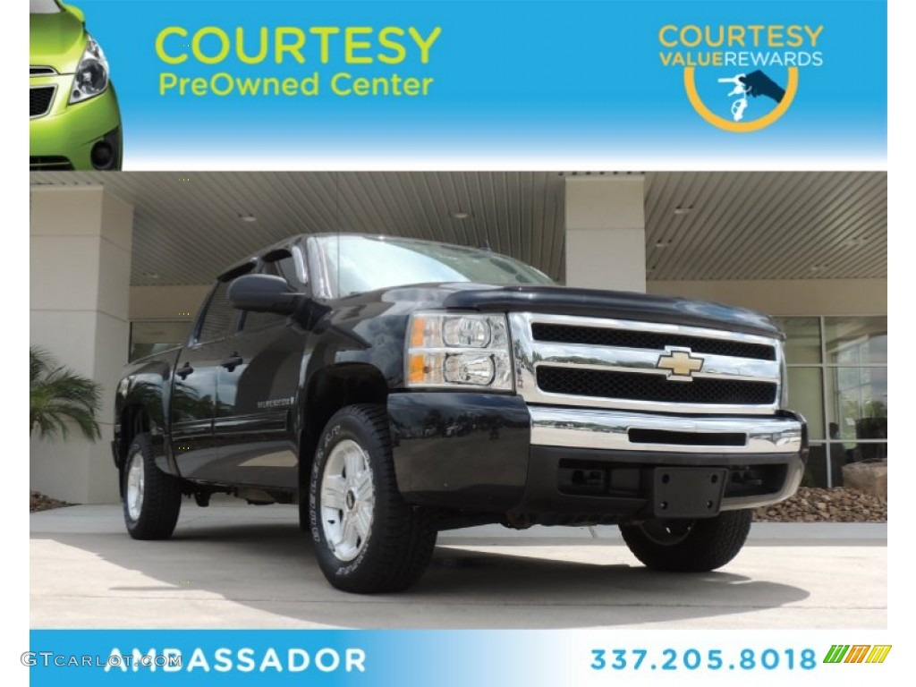 2009 Silverado 1500 LT Z71 Crew Cab 4x4 - Black Granite Metallic / Ebony photo #1
