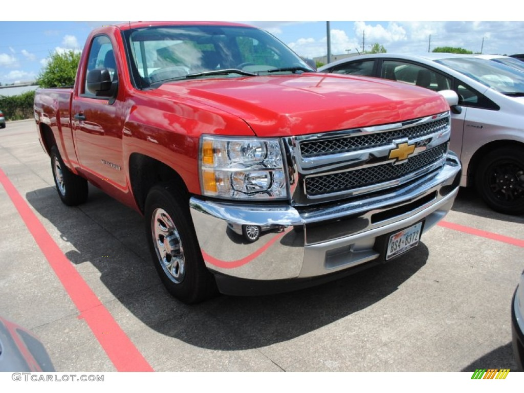 2012 Silverado 1500 LS Regular Cab - Victory Red / Dark Titanium photo #1