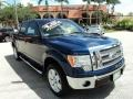 Dark Blue Pearl Metallic 2011 Ford F150 Lariat SuperCrew 4x4