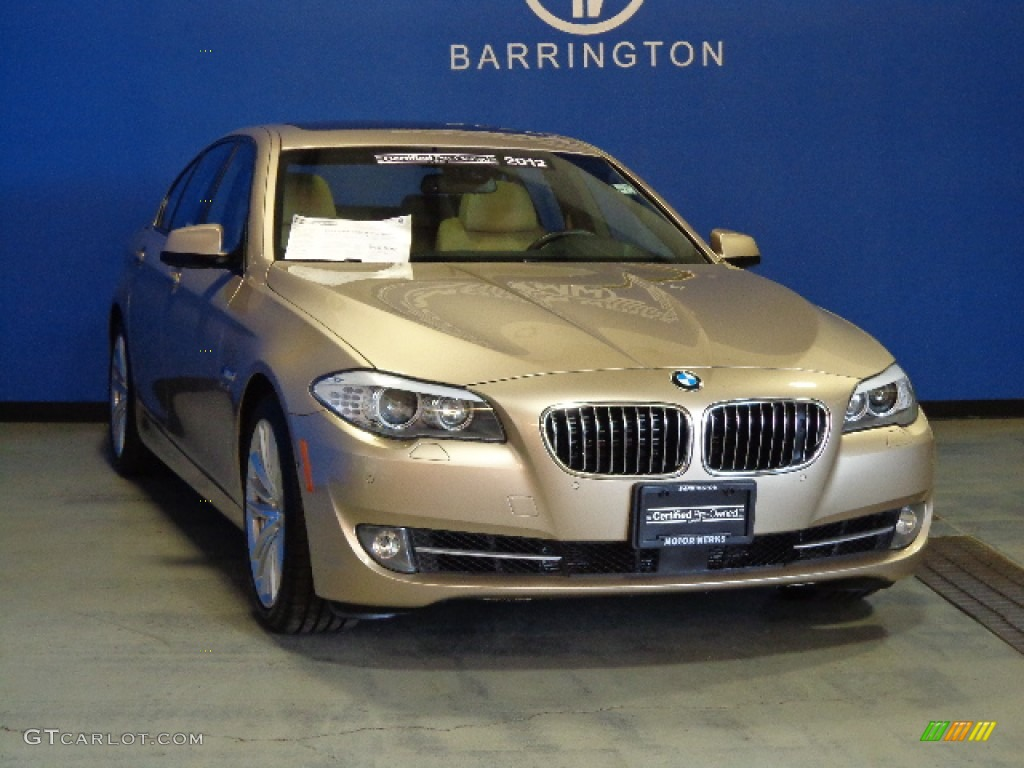 2012 milano beige metallic bmw 5 series 550i xdrive sedan. Black Bedroom Furniture Sets. Home Design Ideas