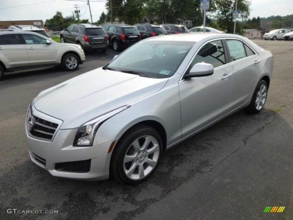 2014 radiant silver metallic cadillac ats 2 0l turbo awd 84565800 photo 3 car. Black Bedroom Furniture Sets. Home Design Ideas