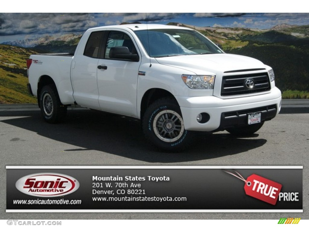 2013 Tundra TRD Rock Warrior Double Cab 4x4 - Super White / Black photo #1