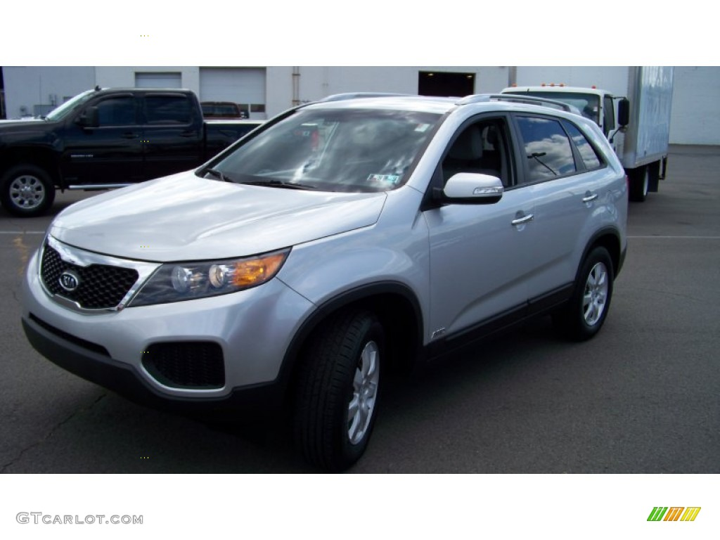 2011 Sorento LX V6 AWD - Bright Silver / Gray photo #1