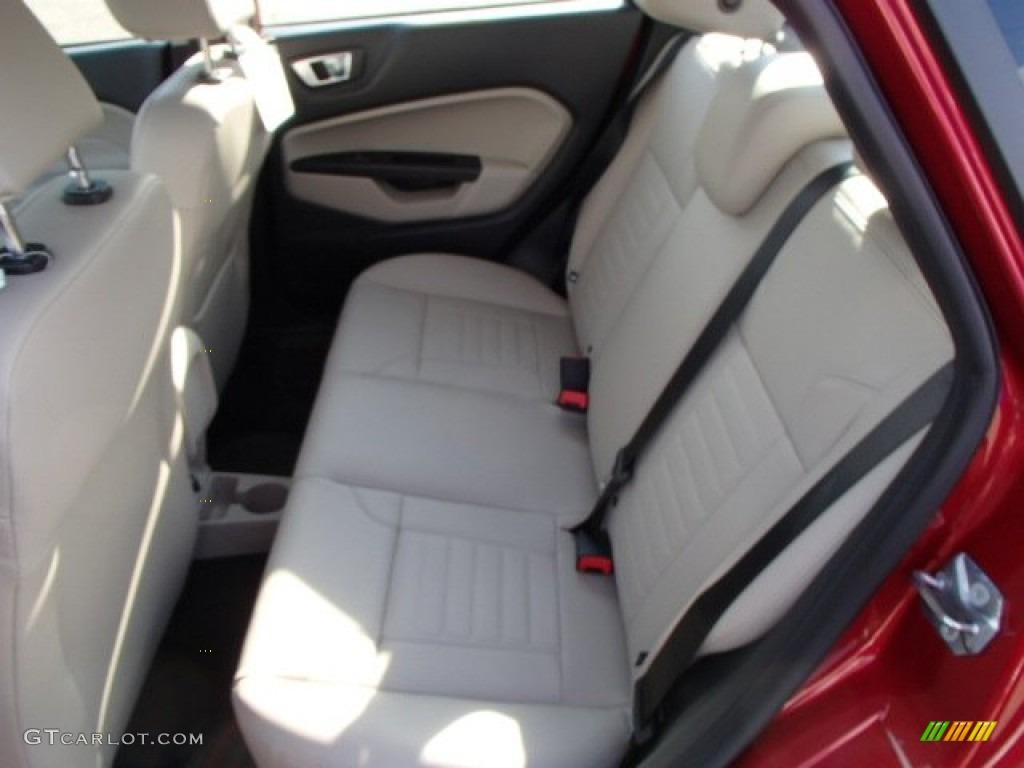 Medium Light Stone Interior 2014 Ford Fiesta Titanium