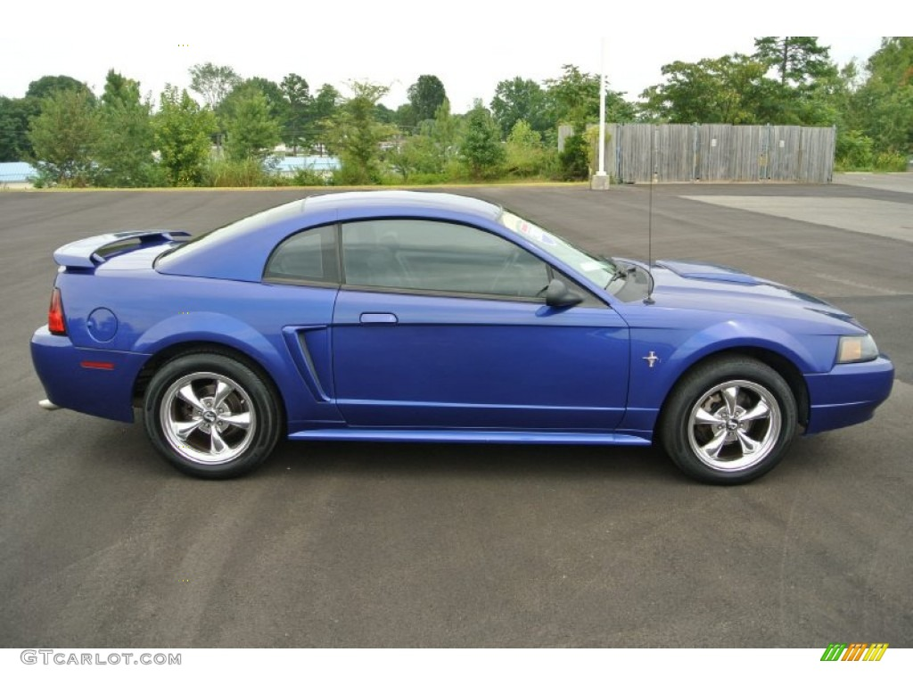 2003 Mustang V6 Coupe - Sonic Blue Metallic / Dark Charcoal photo #6