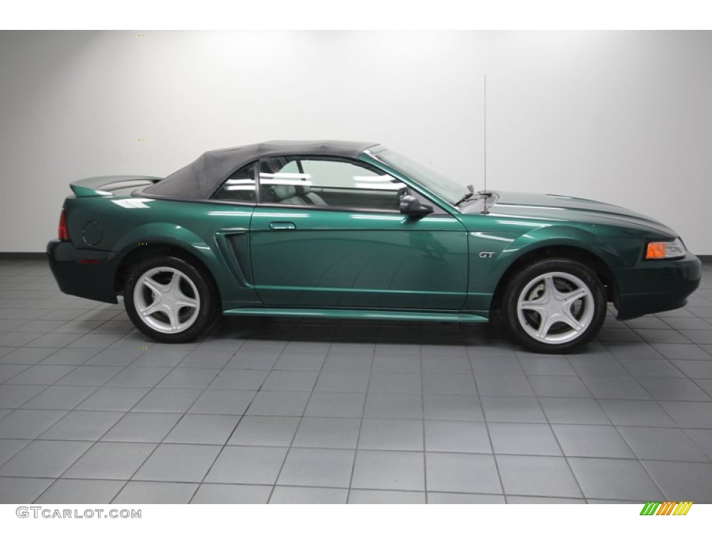 amazon green metallic 2000 ford mustang gt convertible. Black Bedroom Furniture Sets. Home Design Ideas