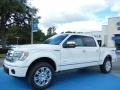 White Platinum Metallic Tri-Coat 2013 Ford F150 Platinum SuperCrew 4x4