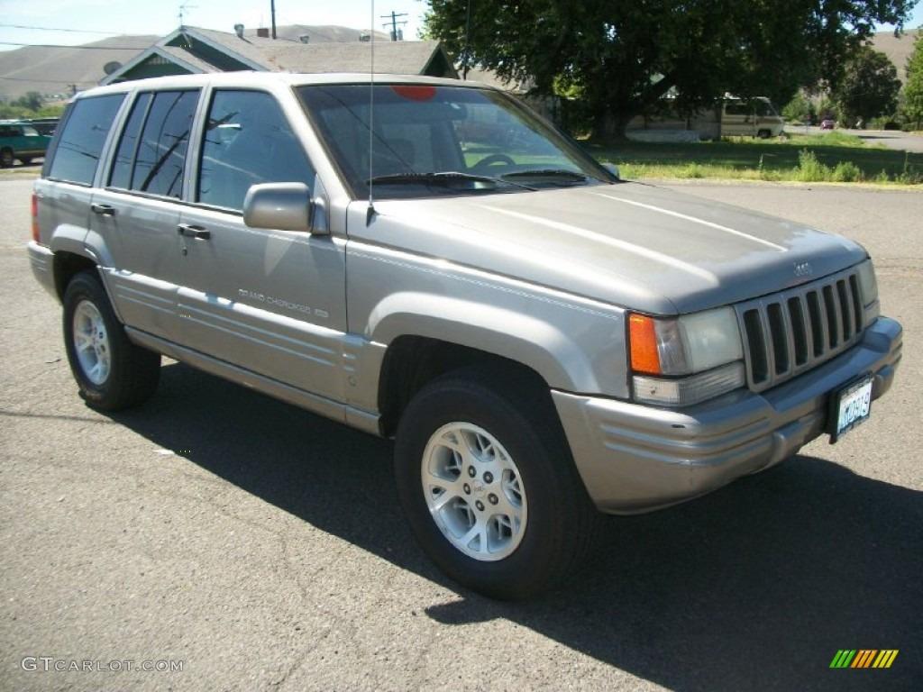 1997 bright platinum metallic jeep grand cherokee limited 4x4 84669550 car. Black Bedroom Furniture Sets. Home Design Ideas