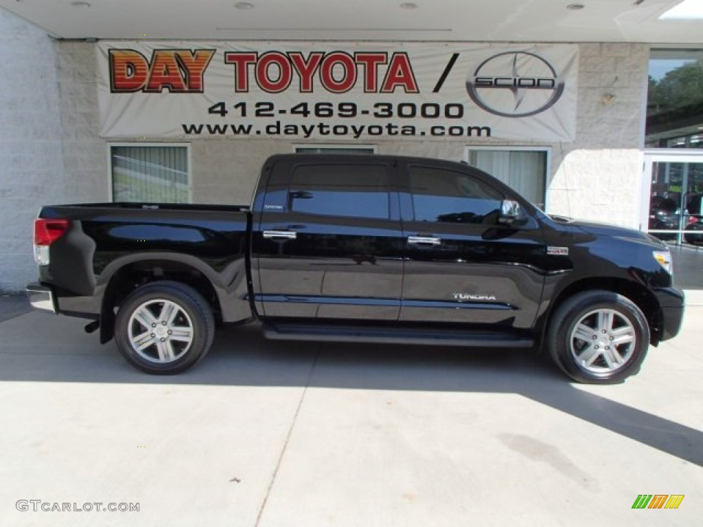 2013 Tundra Limited CrewMax 4x4 - Black / Red Rock photo #1