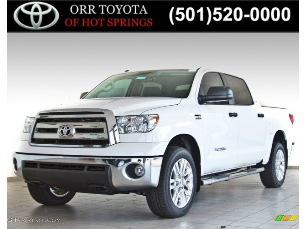 2013 Tundra SR5 CrewMax 4x4 - Super White / Graphite photo #1