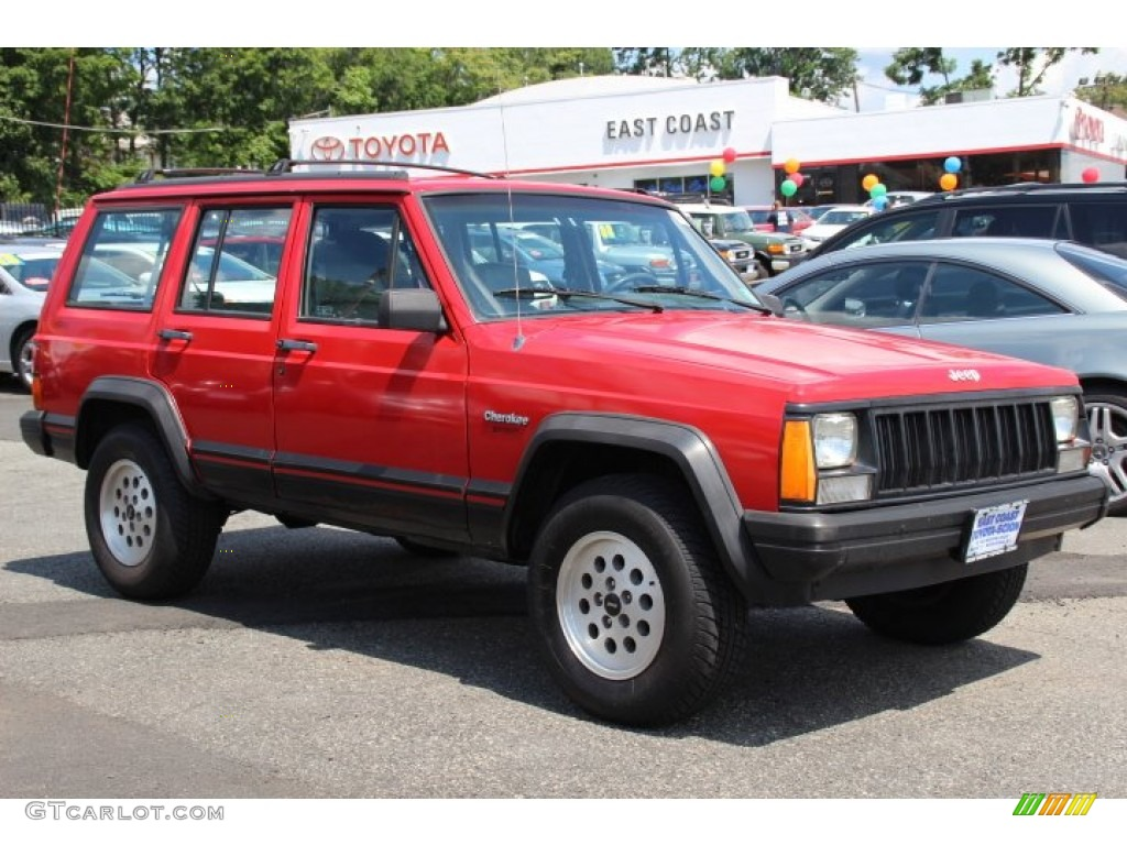 1994 flame red jeep cherokee sport 4x4 84669325 car color galleries. Black Bedroom Furniture Sets. Home Design Ideas