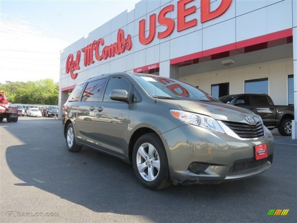 2011 Sienna LE - Cypress Green Pearl / Bisque photo #1