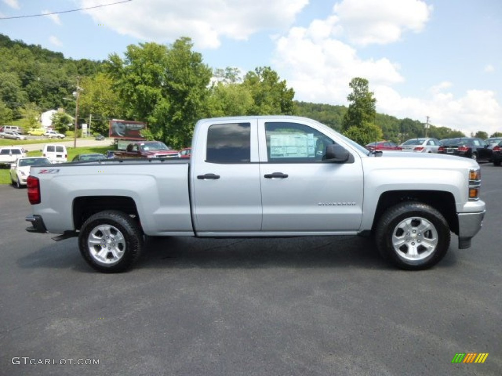 silver ice metallic 2014 chevrolet silverado 1500 ltz z71 double cab 4x4 exterior photo. Black Bedroom Furniture Sets. Home Design Ideas