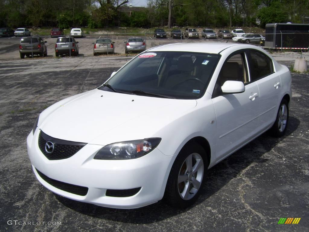 2004 rally white mazda mazda3 i sedan 8457277 car color galleries. Black Bedroom Furniture Sets. Home Design Ideas