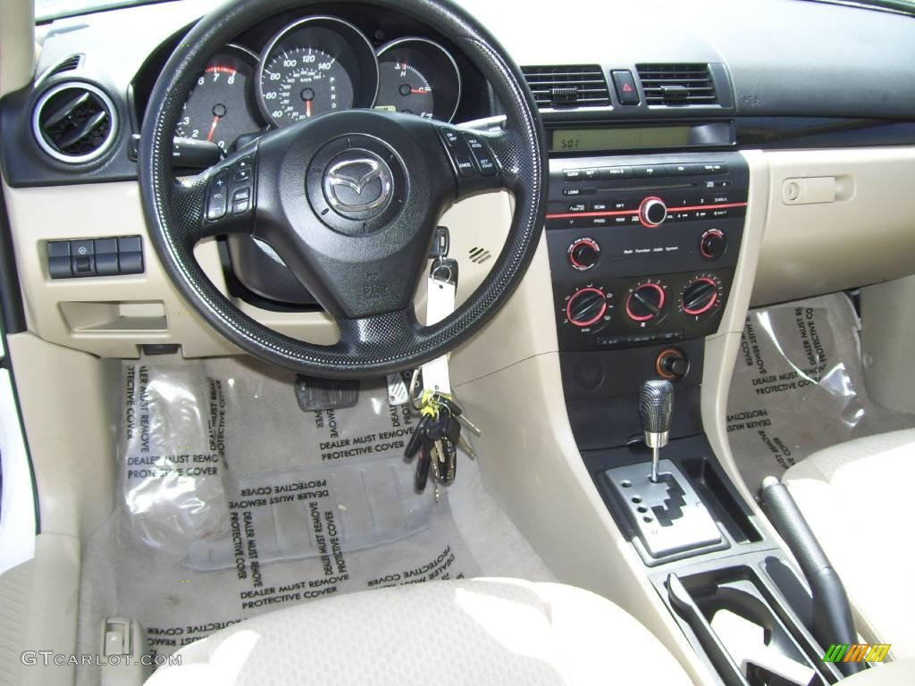2004 rally white mazda mazda3 i sedan 8457277 photo 13. Black Bedroom Furniture Sets. Home Design Ideas