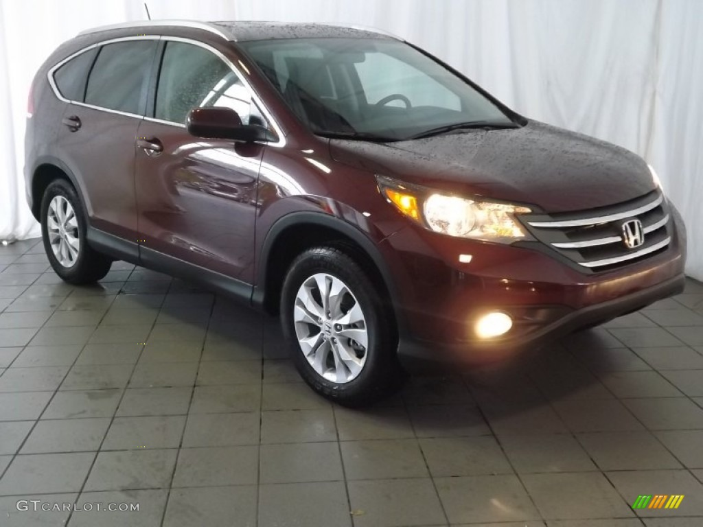 2014 CR-V EX-L - Basque Red Pearl II / Gray photo #1