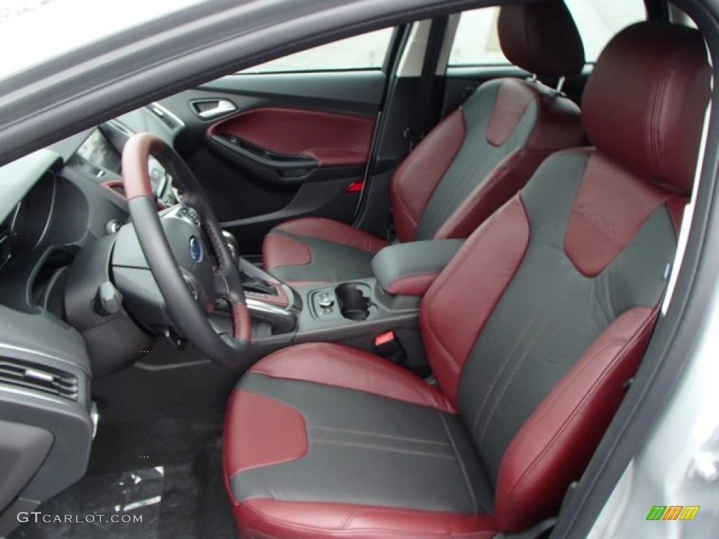 tuscany red interior 2014 ford focus titanium hatchback photo 84752105 - Ford Focus 2014 Hatchback Titanium