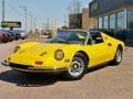 Yellow 1974 Ferrari Dino 246 GTS