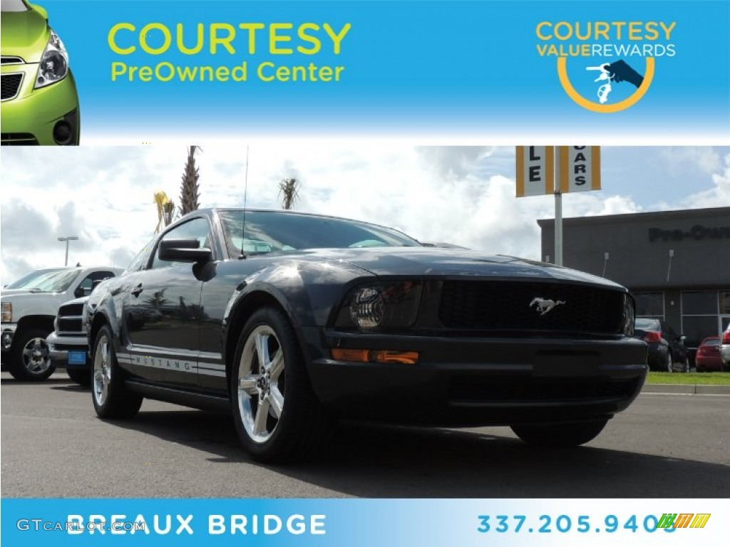 2008 Mustang V6 Deluxe Coupe - Alloy Metallic / Light Graphite photo #1