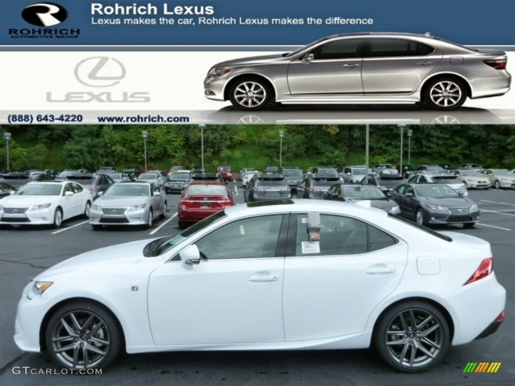 2014 ultra white lexus is 250 f sport awd 84766843 car color galleries. Black Bedroom Furniture Sets. Home Design Ideas