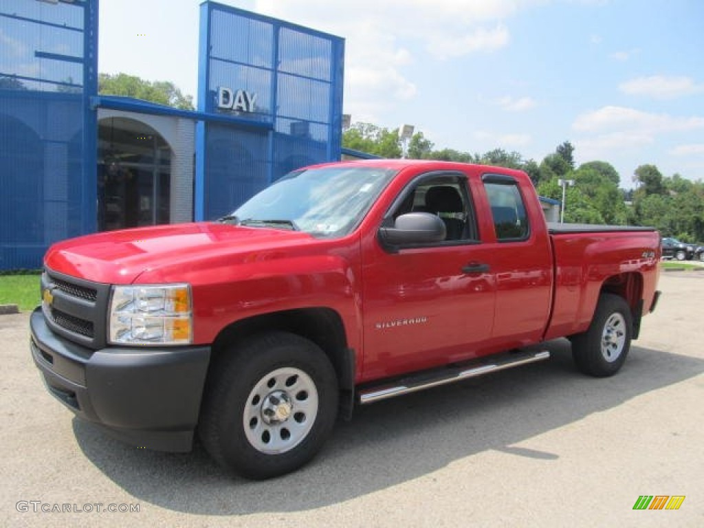 2012 Silverado 1500 Work Truck Extended Cab 4x4 - Victory Red / Dark Titanium photo #1