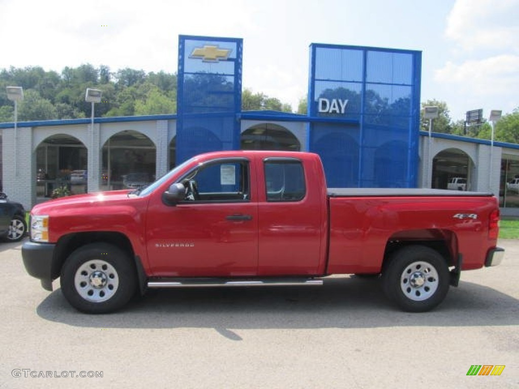 2012 Silverado 1500 Work Truck Extended Cab 4x4 - Victory Red / Dark Titanium photo #2