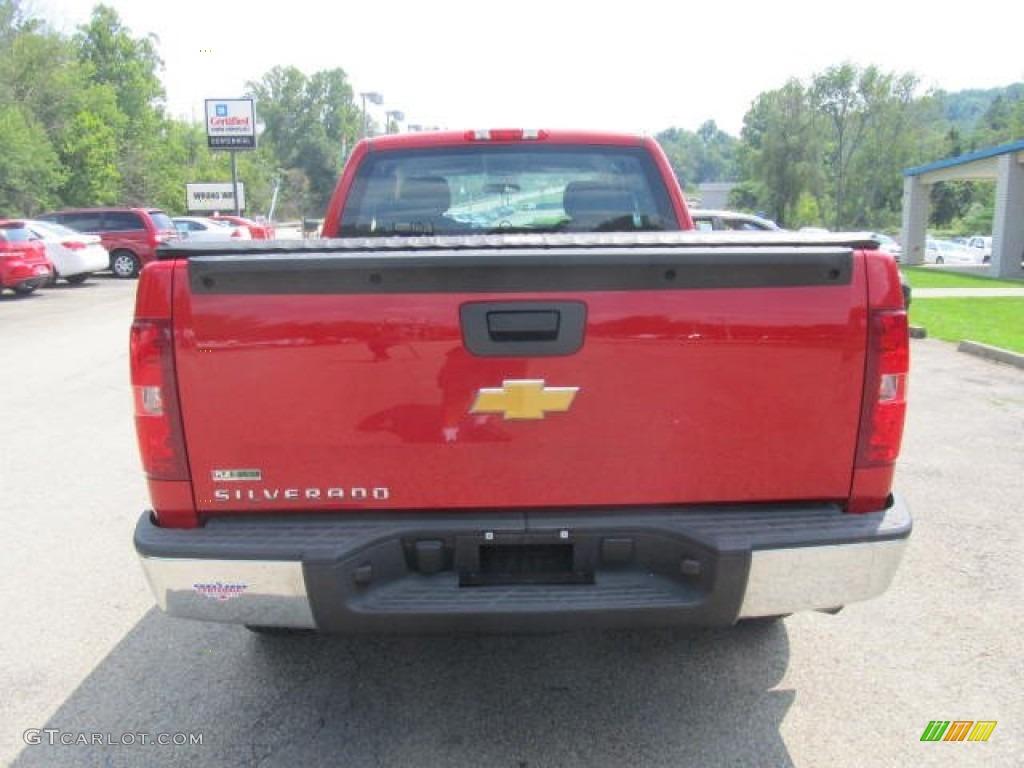 2012 Silverado 1500 Work Truck Extended Cab 4x4 - Victory Red / Dark Titanium photo #5