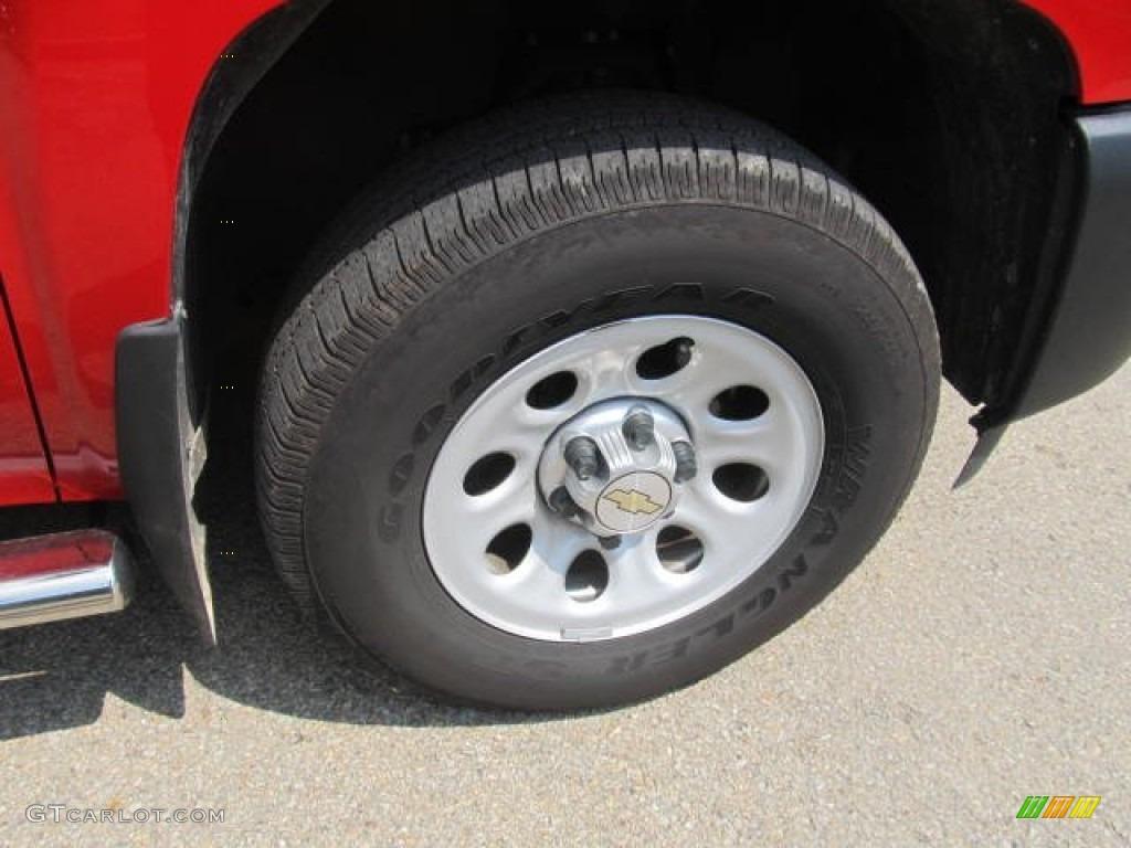 2012 Silverado 1500 Work Truck Extended Cab 4x4 - Victory Red / Dark Titanium photo #7