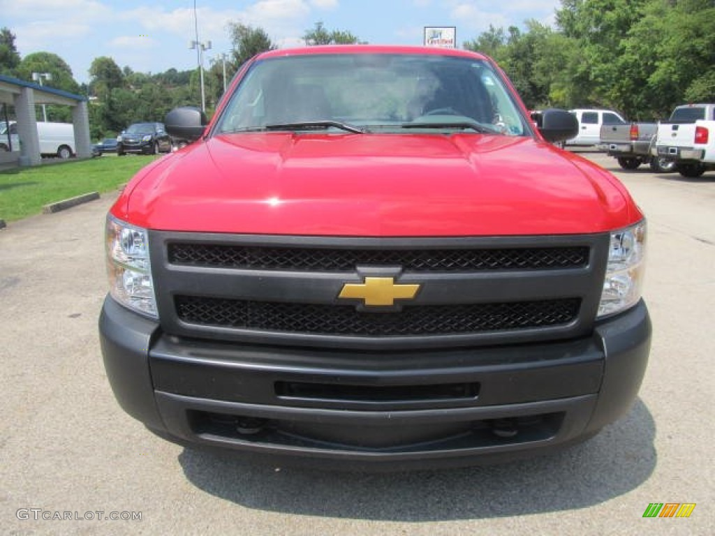 2012 Silverado 1500 Work Truck Extended Cab 4x4 - Victory Red / Dark Titanium photo #9