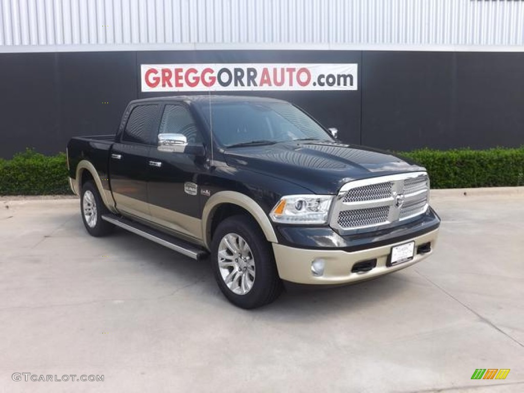 2013 black ram 1500 laramie longhorn crew cab 4x4 84766927 car color galleries. Black Bedroom Furniture Sets. Home Design Ideas
