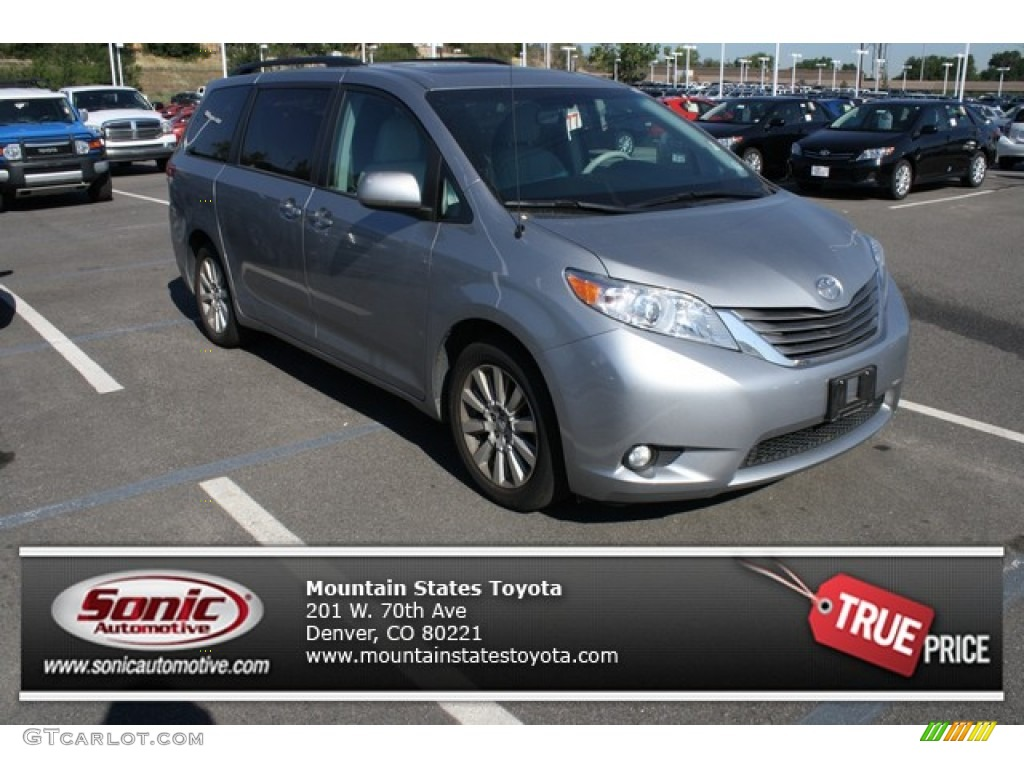 2012 Sienna XLE AWD - Silver Sky Metallic / Light Gray photo #1