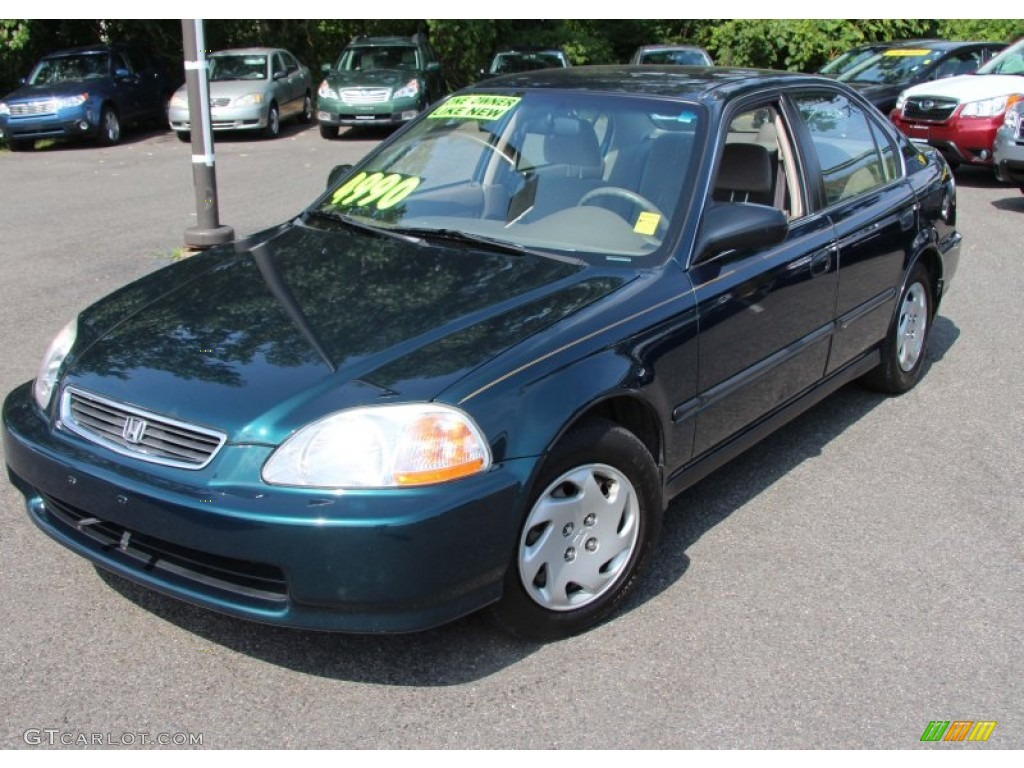 cypress green metallic 1997 honda civic lx sedan exterior. Black Bedroom Furniture Sets. Home Design Ideas