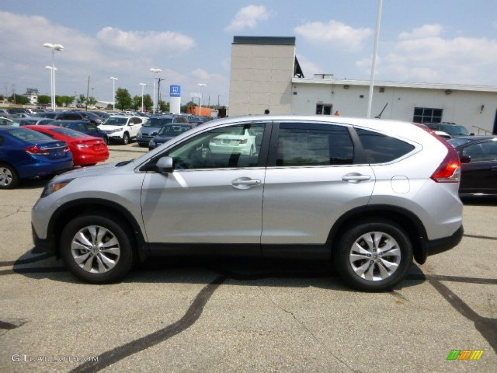 2013 CR-V EX AWD - Alabaster Silver Metallic / Gray photo #6