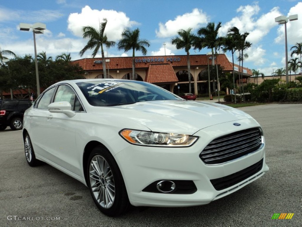 2013 Fusion SE 2.0 EcoBoost - Oxford White / Charcoal Black photo #1