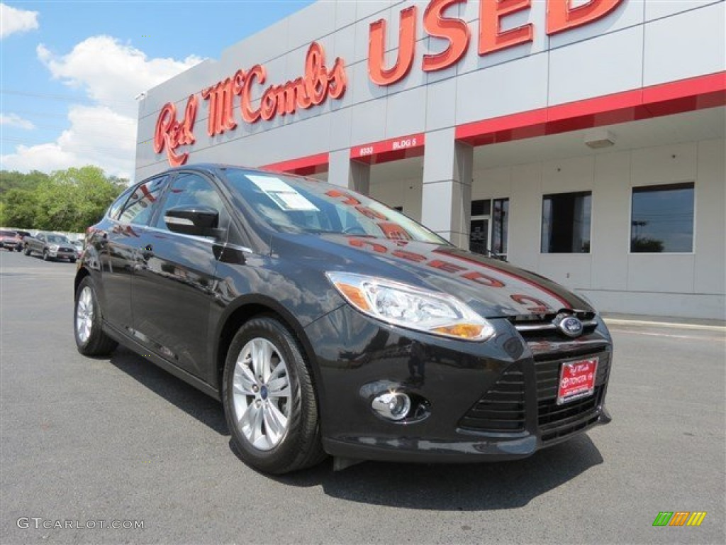 2012 Focus SEL 5-Door - Tuxedo Black Metallic / Charcoal Black Leather photo #1