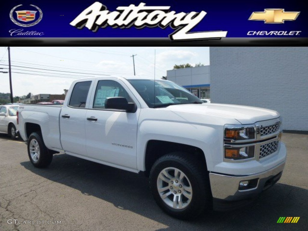 2014 summit white chevrolet silverado 1500 lt double cab 4x4 84810140 car. Black Bedroom Furniture Sets. Home Design Ideas