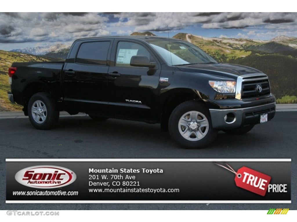 2013 Tundra CrewMax 4x4 - Black / Sand Beige photo #1
