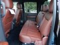 2013 Ford F250 Super Duty King Ranch Chaparral Leather/Black Trim Interior Rear Seat Photo