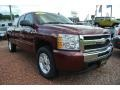 2009 Deep Ruby Red Metallic Chevrolet Silverado 1500 LT Extended Cab  photo #2