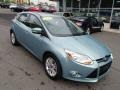 2012 Frosted Glass Metallic Ford Focus SEL 5-Door  photo #2