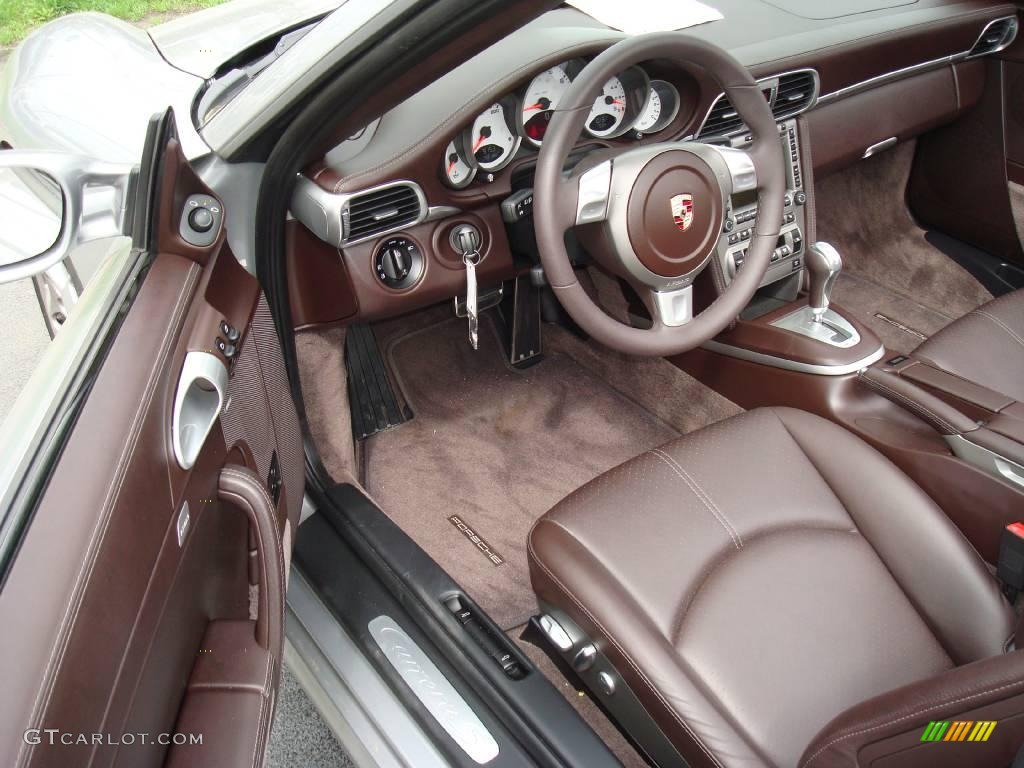 cocoa brown interior 2008 porsche 911 carrera s cabriolet photo 8498463. Black Bedroom Furniture Sets. Home Design Ideas