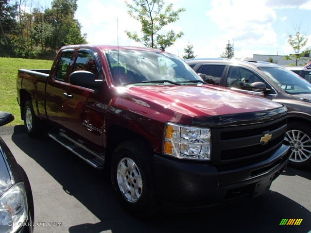 2009 Silverado 1500 Extended Cab 4x4 - Deep Ruby Red Metallic / Dark Titanium photo #1