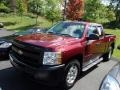 2009 Deep Ruby Red Metallic Chevrolet Silverado 1500 Extended Cab 4x4  photo #3